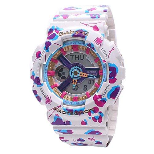 Casio Ladies Baby-G Flower Leopard Analog-Digital Casual Quartz Watch (Imported) BA-110FL-7A