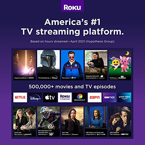 Roku Streaming Stick+   HD/4K/HDR Streaming Device with Long-range Wireless and Roku Voice Remote with TV Controls
