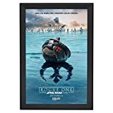 SnapeZo Movie Poster Frame 24x36 Inches, Black 1.7'' Aluminum Profile, Front-Loading Snap Frame, Wall Mounting, Wide Series