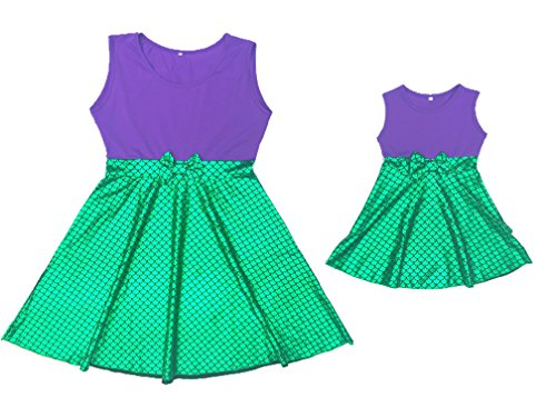 Sequin Alley Mommy Me Dress Mermaid Birthday Outfit Girls ()