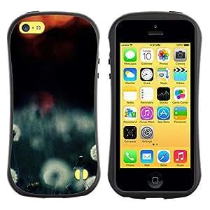 Paccase / Suave TPU GEL Caso Carcasa de Protección Funda para - Plant Nature Forrest Flower 108 - Apple Iphone 5C