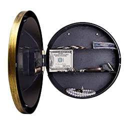 ULAKY Wall Clock Storage Box with Hidden Safe