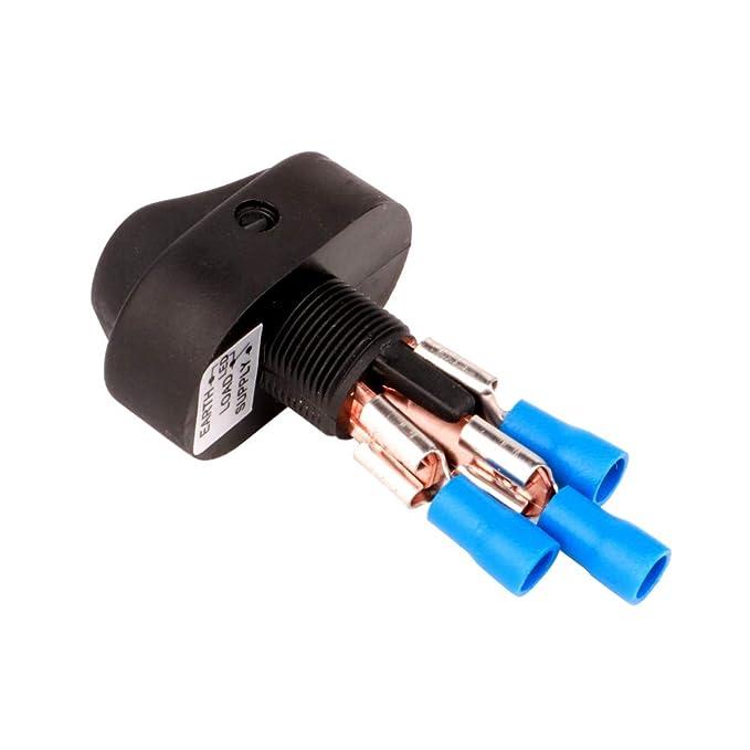 20A LED Rojo ON-Off Interruptor basculante Toggle Triangle Plug Switch para Coche Motocicleta Barco Marino 4-Pack Gebildet/® 12V