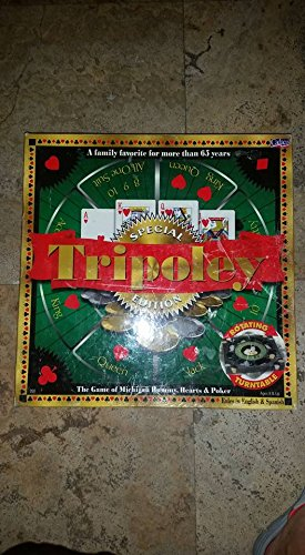 Diamond Anniversary Edition Game (Tripoley 75th Anniversary Diamond Edition with Rotating Plastic Turntable, Gold and Silver Chips)