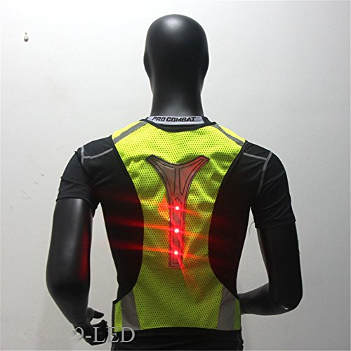 Hogear Reflective Vest LED Mesh Breathable Safety Apparel Clothing Night Running Cycling Work Wear Jogging Hiking