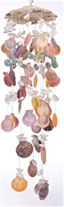 """Laddawan Nature's Melody Wind Chimes for Indoor, Seashell Tuned Unique Design, 25"""""""