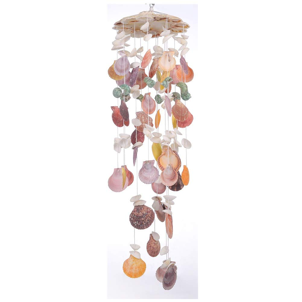 Laddawan Nature's Melody Wind Chimes for Outdoor or Indoor, Seashell Tuned Unique Design, 25''
