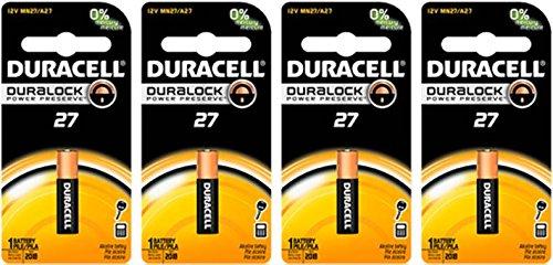 Duracell MN27BPK Watch / Electronic / Keyless Entry Battery, 12 Volt Alkaline X 4 Batteries