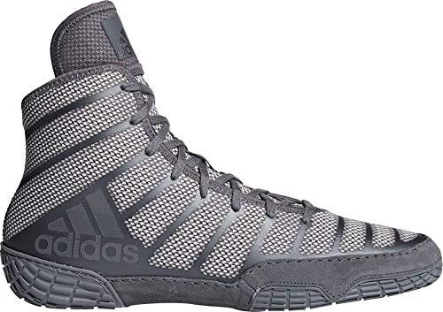 adidas Men's Adizero Varner Wrestling Shoes, Onyx/Grey, Size 7