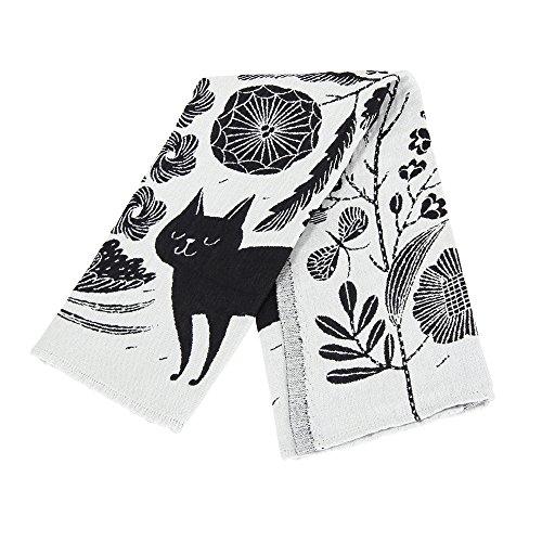 Lapuan Kankurit ラプアンカンクリ Towel タオル 48x70cm KOIRA JA KISSA white-black ホワイトブラック 74497 ラプアン カンクリ