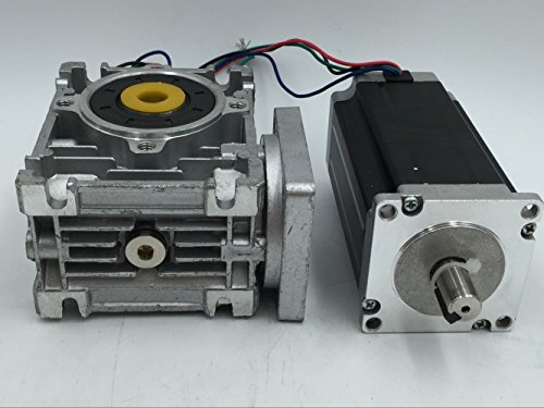 ToAuTo Nema23 Ratio 20:1 Worm Gear Stepper Motor L112mm 4.2A Gearbox Speed Reducer For CNC Router Engraving Machine