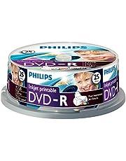 Philips DVD-R DM4I6B25F/00 - DVD+RW vírgenes (4,7 GB, 120 mm, 120 min, 1,2 mm, DVD-R, 4.7 GB / 120 min Video)