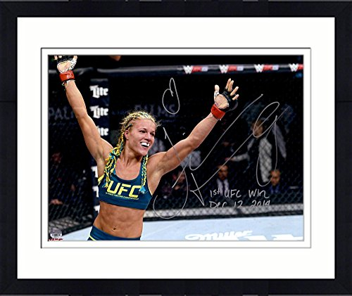 Framed Felice Herrig Ultimate Fighting Championship Autographed 16  X 20  Horizontal Raising Arms Photograph With 1St Ufc Win 12 12 14 Inscription   Fanatics Authentic Certified