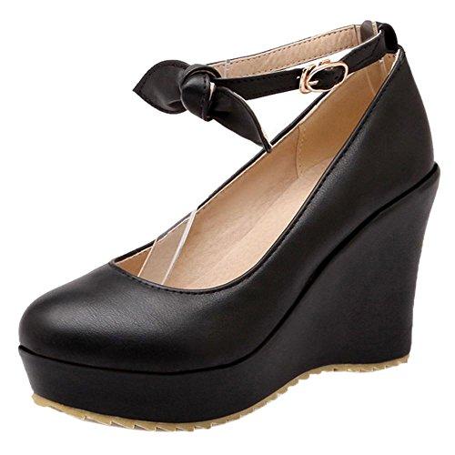 Zapatos de Cuna RAZAMAZA Black Tacon para Mujer z0qOOw4P