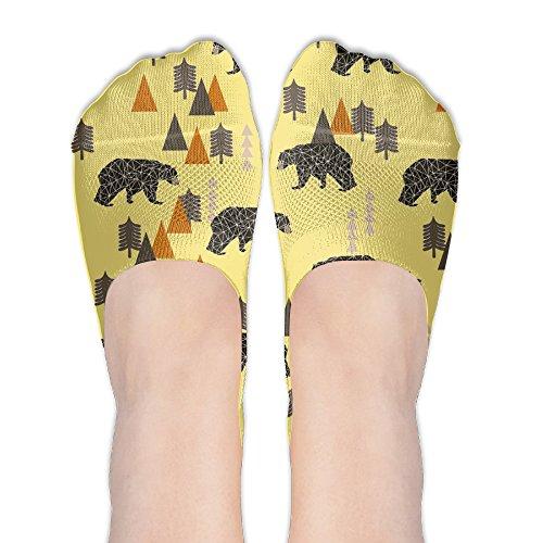 Forest Papa Bear Women No-Show Casual Liner Socks Low Cut Ankle Socks Boat Socks