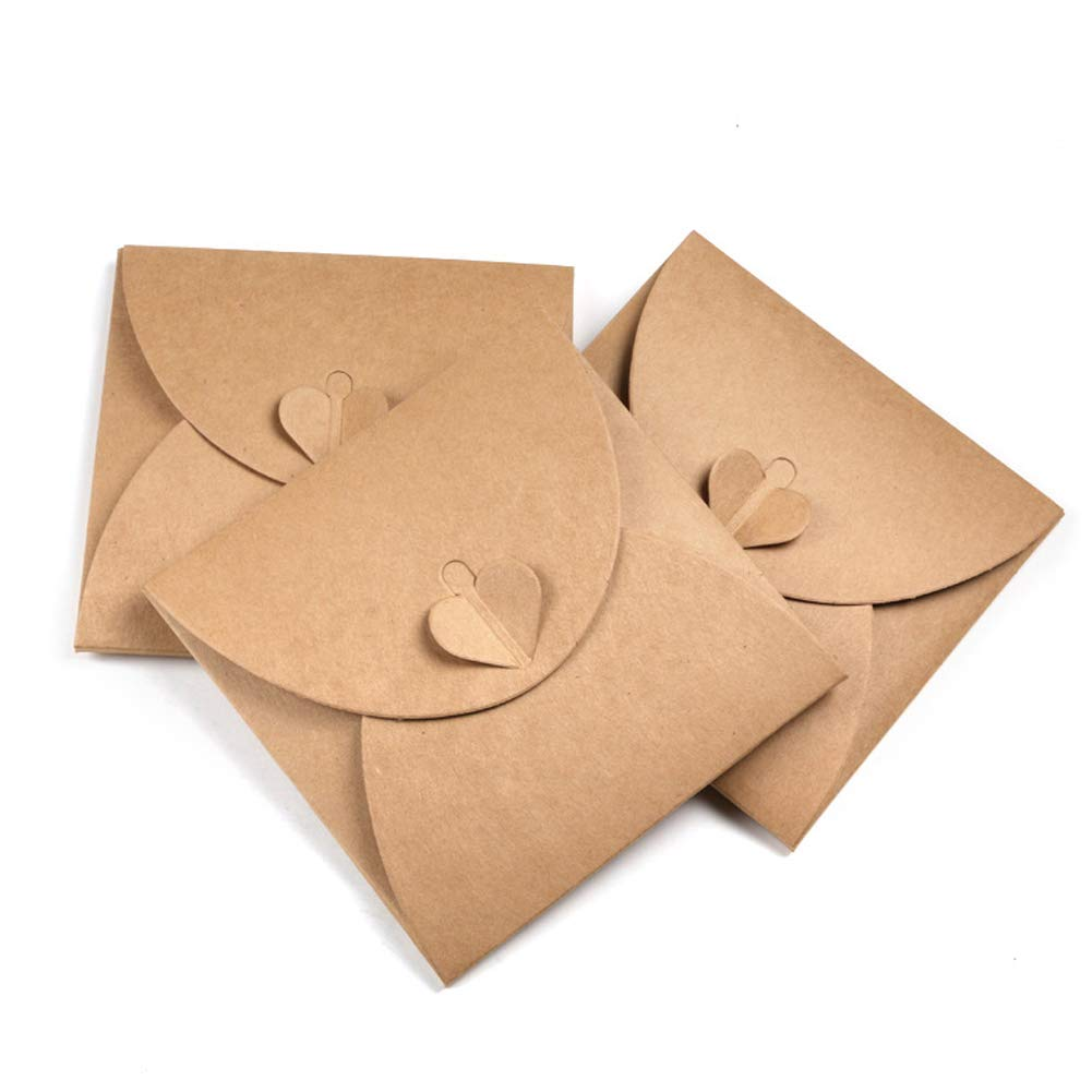 GooGou Kraft Love CD DVD Paper Sleeve Envelopes Packaging Bags Box Media Cases Holder 30 Pack Brown by GooGou
