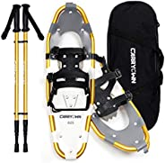 Carryown Snowshoes for Adults Men Women Youth Kids, Light Weight Aluminum Alloy Terrain Snow Shoes with Trekki