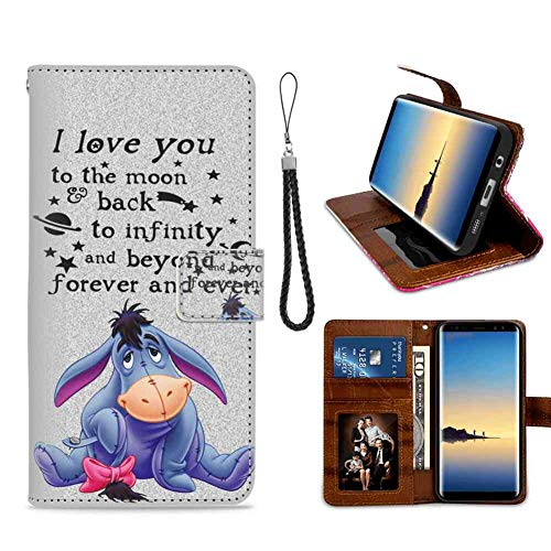 DISNEY COLLECTION Eeyore Samsung Galaxy Note 8 Phone Wallet Case Nice