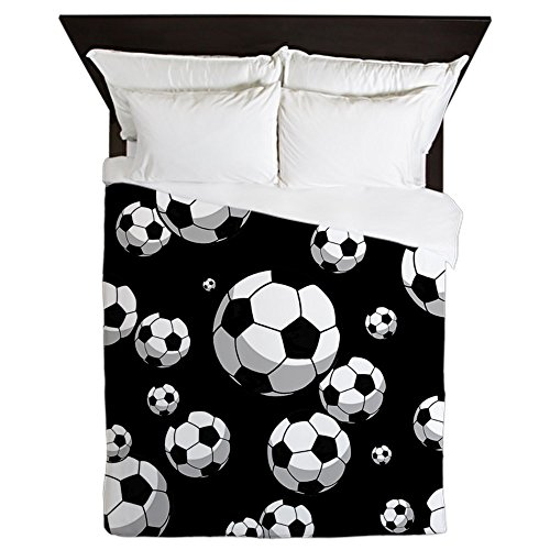 CafePress - Soccer - Queen Duvet Cover, Printed Comforter Cover, Unique Bedding, Microfiber by CafePress