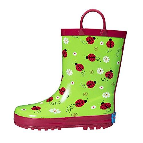 (RanyZany Lovely Ladybug Rain Boots, 13)