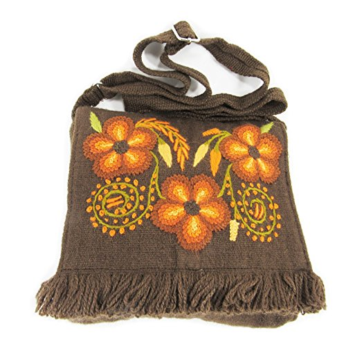 HANDBAGS FOR WOMEN BOHEMIAN BAG SHOULDER PURSE HANDMADE OF ALPACA WOOL HAND EMBROIDERED BY MACHU PICCHU STORE 108512