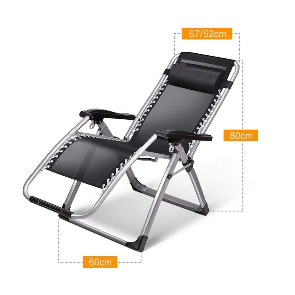 ZXL hopfällbar stol, bänkstol däckstolar – lunchpaus hopfällbar stol Siesta säng stol hem fritid bärbar stol (färg: G) c