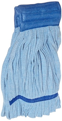 Impact 3118 Microfiber Tube Wet Mop with Mesh Headband, Large, Blue (Case of 12) by Impact Products