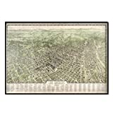 Los Angeles 1909 Historical Print Mounted Framed Wall Map Frame Color: Black