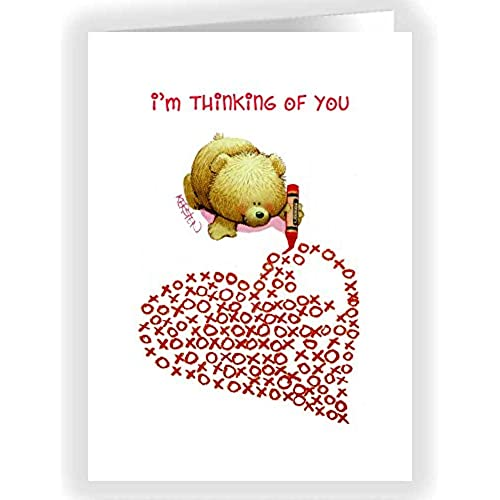 Cute Teddy Bear Xoxo Heart Valentine's Day Card Set - 18 Cards & Envelopes Sales