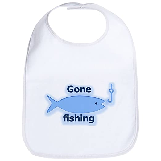 5bfc434d8dc Amazon.com  CafePress - Gone fishing Bib - Cute Cloth Baby Bib ...