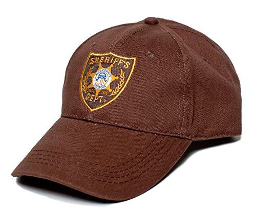 Walking Dead Hat Sheriff's Dept Appliqué Unisex-Adult One-Size Cap Brown