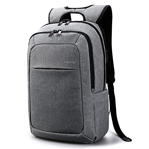 Tigernu Slim Padded Ergonomic Computer Bag Laptop Bag Backpack for Laptops and Notebooks up to 15.6 Inch School Secure Gray Backpack for Men Women Valentines Gift(Light (Valentine Boxes For School)