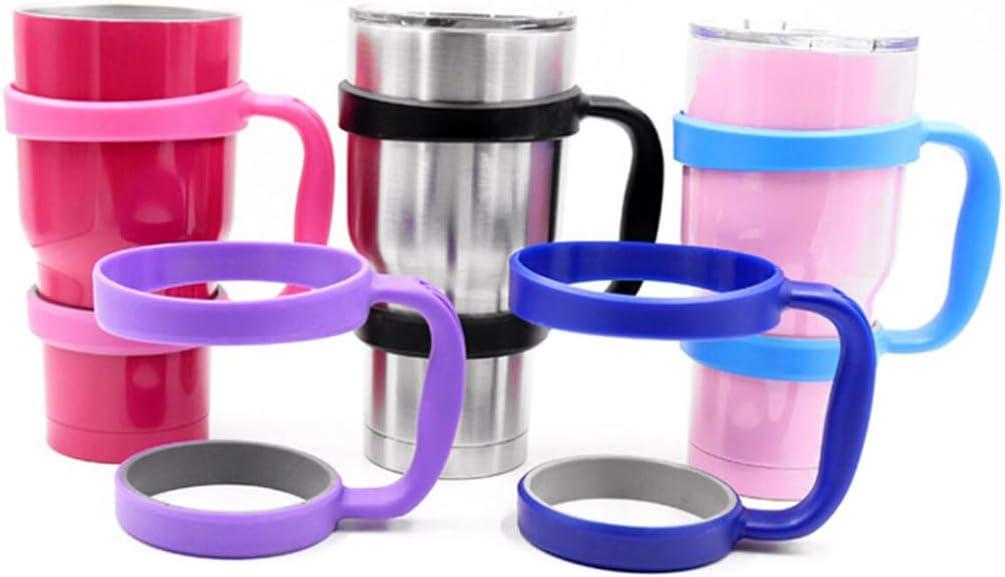 Black 11cm Fenteer Water Bottle Tumbler Cup Handle Travel Mug Holder for 30 Oz Car Vehicle Cup