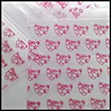 """2020 Apple Mini Ziplock Baggies Red, Orange & Pink Designs on Clear Background You Choose 100 Bags 2"""" X 2"""" (Pink Panther)"""