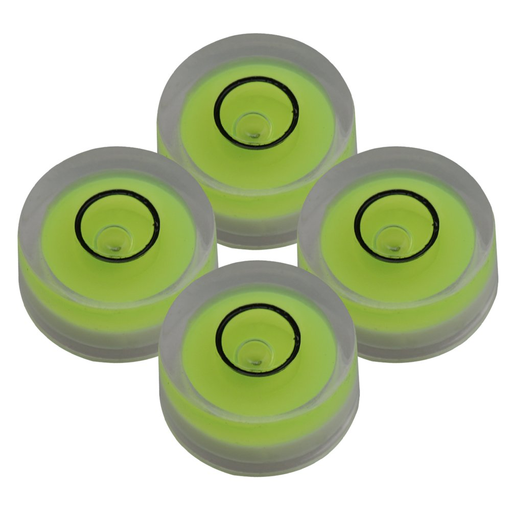 Mxfans 4 Pieces Hand Tool Spirit Level Disc Horizontal Bubble Surface Level blhlltd M3180410006