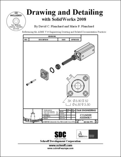 Buy Drawing And Detailing With Solidworks 2008 Referencing The Asme