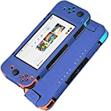 KAMII Nintendo Switch Case - [Slim Flip] Lightweight Ultra-Thin Premium Quality PU Leather Flip Protective Case Cover for Nintendo Switch 2017 (Blue)