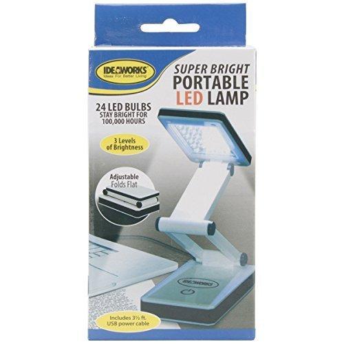 Edmunds Super Bright Portable LED Lamp, White (2-Pack)
