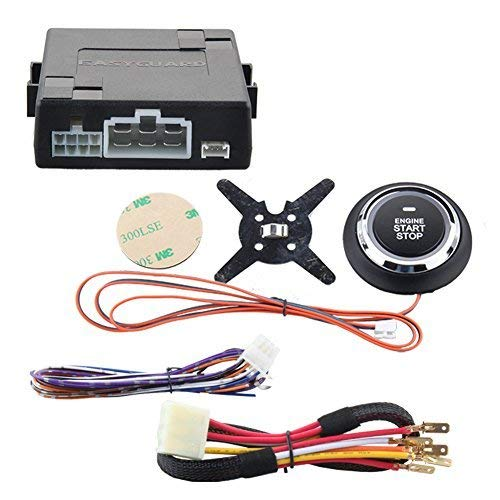 EASYGUARD ES002-P2 Engine Start Button,Remote Start Optional for Automatic Shift Car,Can Work with Original Key DC12V