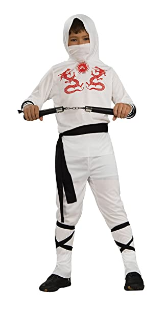 Rubies Childs White Ninja Costume, Medium