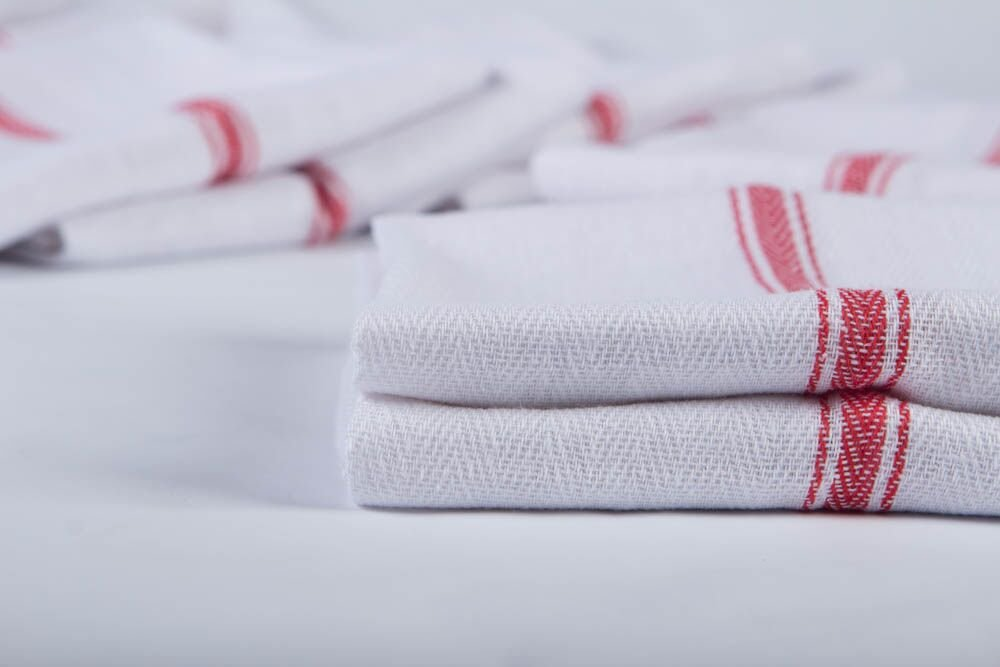 Kitchen Towel Dish Towels (13 Pack) Tea Towels 100 Percent Cotton Dish Cloths Red and White Dish Towels (15 x 25 Inch) Machine Washable By Ama's Kitchen by AMA's Kitchen (Image #2)