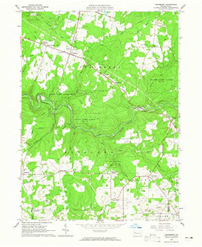 YellowMaps Cranberry PA topo map, 1:24000 Scale, 7.5 X 7.5 Minute, Historical, 1963, Updated 1965, 27 x 22.1 in - Paper