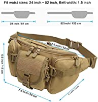 Utility Tactical Waist Pack Pouch Military Camping Hiking Bag Belt Bags J4H0L