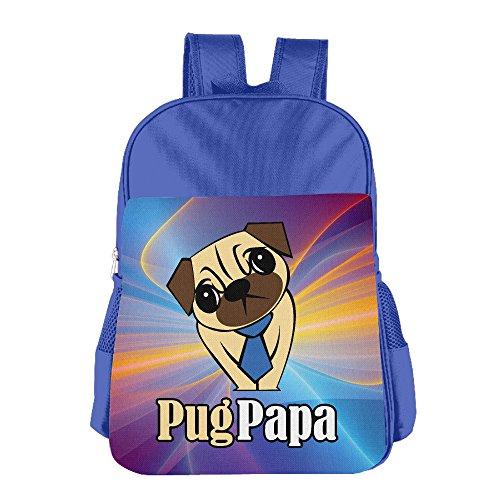 Pug Papa Print School Backpacks For Girls Boys Kids Elementary School Bags Bookbag