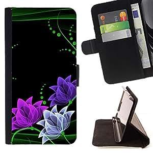 For LG Nexus 5 D820 D821 Case , Floral Flores minimalista Verde Rosa- la tarjeta de Crédito Slots PU Funda de cuero Monedero caso cubierta de piel