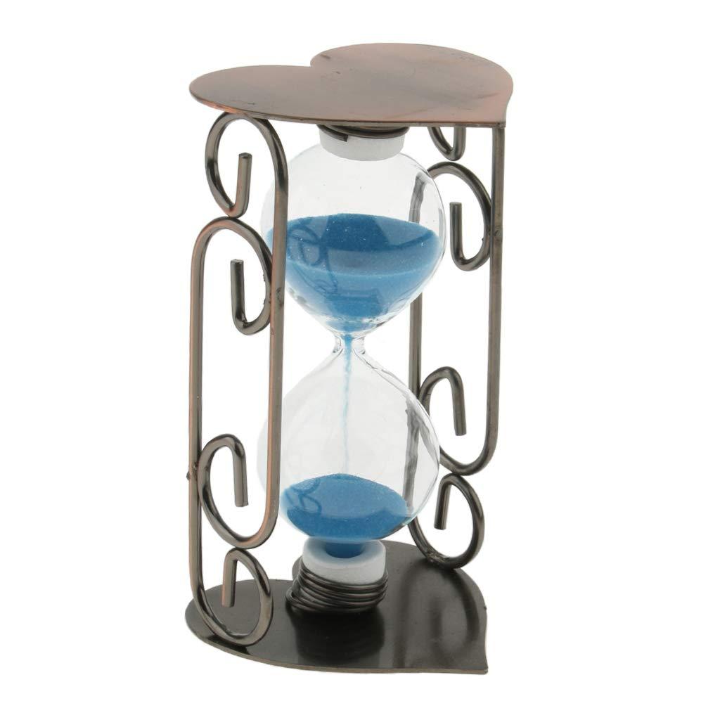 Amazoncom Baosity Iron Hourglass Sand Glass Office Desktop - Decorative-hourglass
