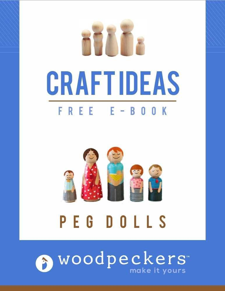 Includes 5 Dad Dolls 3-9//16 and 5 Mom Dolls 3-1//2 Unfinished Wood Peg Doll Bodies by Woodpeckers