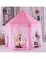 ANAGRE TENT PLAY TENT VOOR KINDEREN Kids Princess Castle Play House, Geweldig cadeau voor meisjes jongens zeshoek