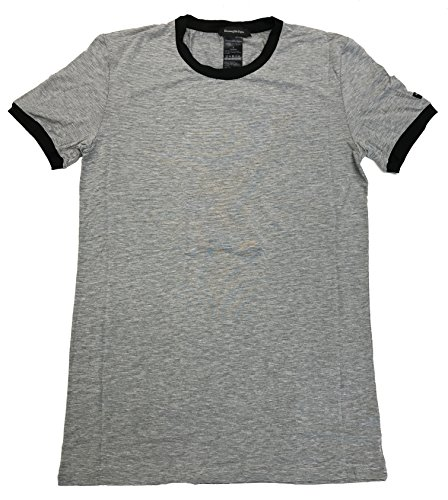 Ermenegildo Zegna Stretch Crew Neck T-Shirt (Small, Grey Melange/Black - Discount Zegna