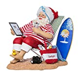 Kurt Adler Fabriche' Swimming Santa, 10-Inch